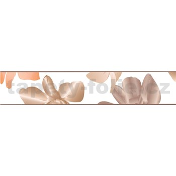 Samolepiace bordúry kvetinky hnedé 5 m x 5,8 cm
