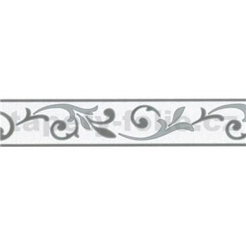 Samolepiace bordúry ornamenty sivé 5 m x 5,8 cm