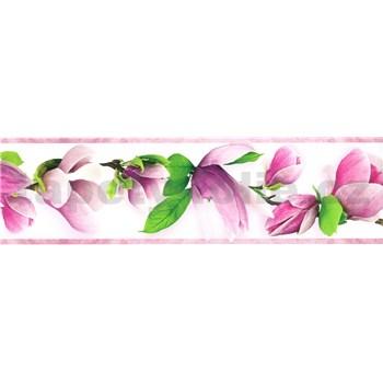 Samolepiace bordúry vetvičky s kvetmi fialové 5 m x 8,3 cm