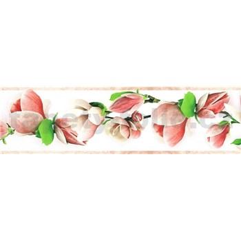 Samolepiace bordúry vetvičky s kvetmi ružové 5 m x 8,3 cm