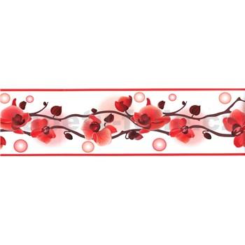 Samolepiace bordúry orchidea červená 5 m x 8,3 cm