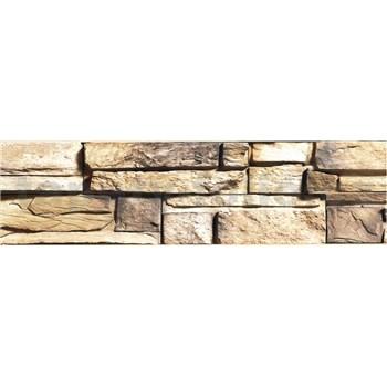 Samolepiaca bordúra ukladaný kameň hnedý 8,3 cm x 5 m