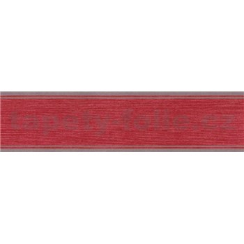 Samolepiace bordúry vínovo červená 5 m x 5 cm