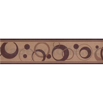 Samolepiace bordúry bubliny tmavo hnedé 5 m x 5 cm