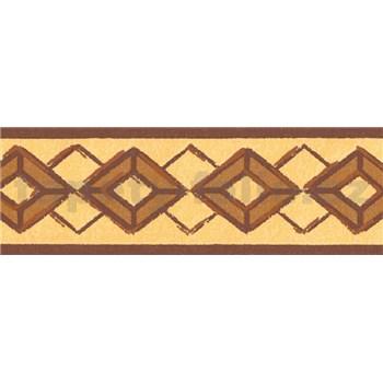 Samolepiace bordúry kosoštvorca hnedé 5 m x 6,9 cm
