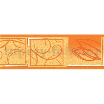 Samolepiaca bordúra natural oranžová 5 m x 6,9 cm