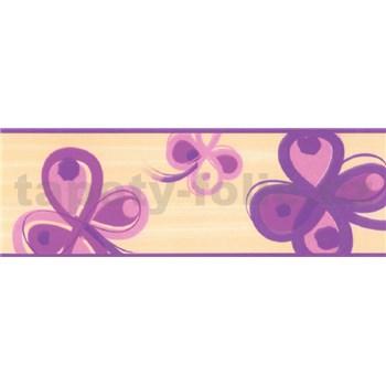 Samolepiace bordúry štvorlístok fialový 5 m x 6,9 cm
