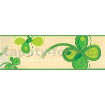 Samolepiace bordúry štvorlístok zelený 5 m x 6,9 cm