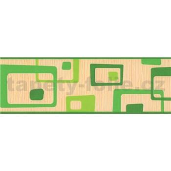 Samolepiaca bordúra abstrakt zelený 5 m x 6,9 cm