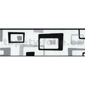 Samolepiaca bordúra abstrakt čierny 5 m x 6,9 cm