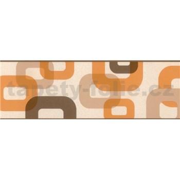 Samolepiaca bordúra 3D oranžovo-hnedá 5 m x 6,9 cm