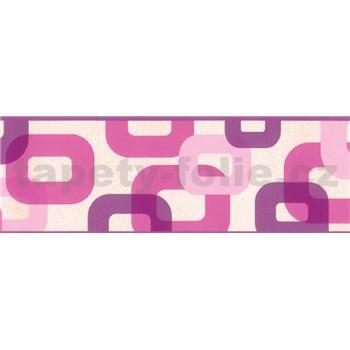 Samolepiaca bordúra 3D ružovo-fialová 5 m x 6,9 cm