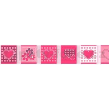 Samolepiaca bordúra - ružová 5 m x 6,9 cm