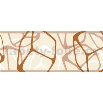 Samolepiace bordúry štvorčeky hnedo-béžové 5 m x 6,9 cm
