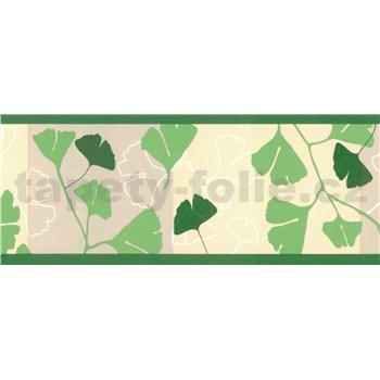Samolepiace bordúry ginkgo listy zelené 5 m x 6,9 cm