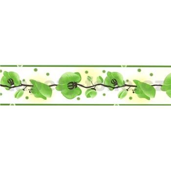 Samolepiaca bordúra - orchidea zelená 5 m x 6,9 cm