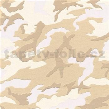 Vliesové tapety na stenu Boys & Girls maskáč hnedý