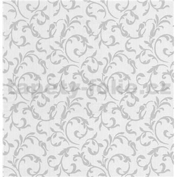 Luxusné vliesové tapety na stenu Brilliance zámocký vzor sivý na krémovom podklade