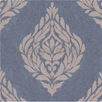 Vliesové tapety IMPOL Carat 2 zámocký vzor zlatý na modrom podklade