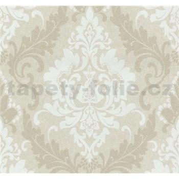 Vliesové tapety na stenu Casual Chic zámocký vzor hnedý