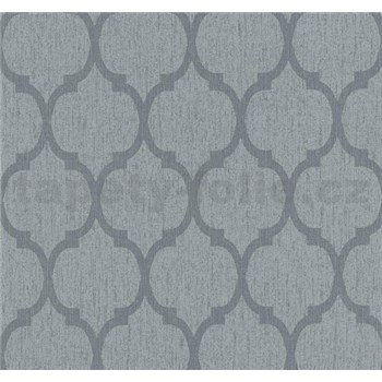 Vliesové tapety na stenu Casual Chic retro vzor tmavo sivý