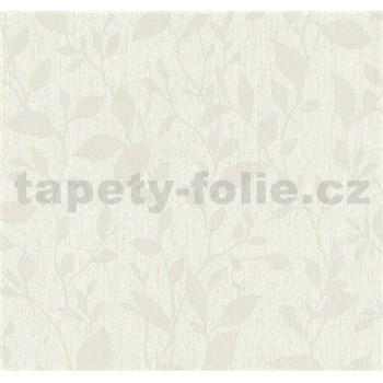 Vliesové tapety na stenu Casual Chic lístočky svetlo hnedé