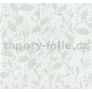 Vliesové tapety na stenu Casual Chic lístočky svetlo sivé