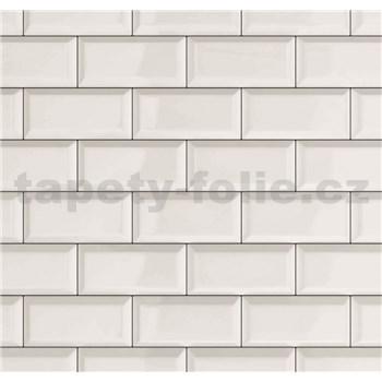 Dekoratívny obklad na stenu Ceramics Metro biely šírka 67,5 cm x 20 m