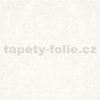 Vliesové tapety IMPOL City Glam zámocký vzor biely s metalickým odleskom