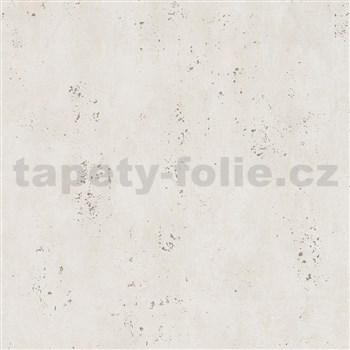 Vliesové tapety IMPOL City Glam betón béžový so zlatými metalickými odleskami