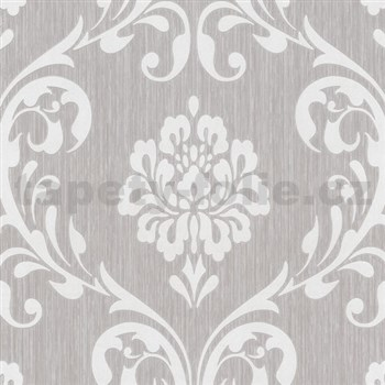 Vliesové tapety na stenu Classico zámocký vzor smotanový na hnedom podklade