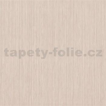 Vliesové tapety na stenu Classico štruktúrované jemné prúžky svetlo hnedé