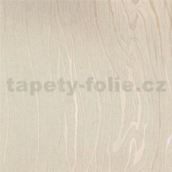 Vliesové tapety na stenu Colani Visions drevo moderné béžové s perleťovými kontúrami
