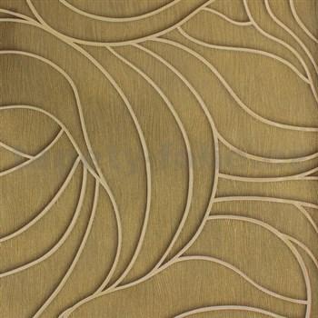 Vliesové tapety na stenu Colani Visions abstraktné listy zlaté