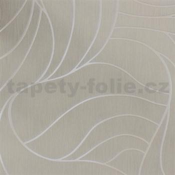 Vliesové tapety na stenu Colani Visions abstraktné listy krémové