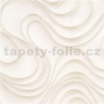 Luxusné vliesové tapety na stenu Colani Evolution vlnovky béžové