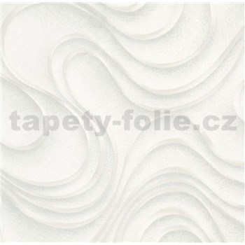 Luxusné vliesové tapety na stenu Colani Evolution vlnovky sivé