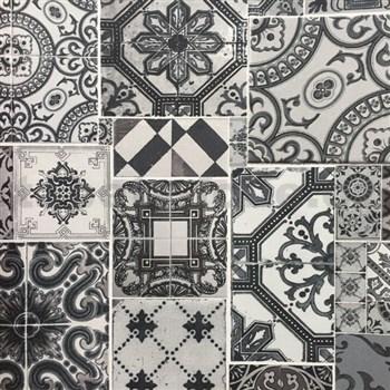 Vliesové tapety na stenu Collage obklad Barcelona sivo-strieborný