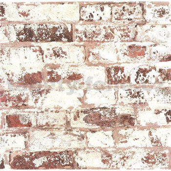 Vliesové tapety na stenu Collage tehla hnedo-červená