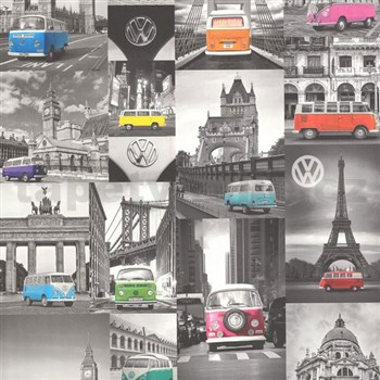 Vliesové tapety na stenu Collage autá Volkswagen