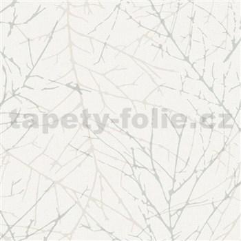 Vliesové  tapety na stenu Collection 2 vetvičky sivé