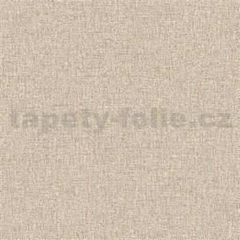 Vliesové tapety na stenu IMPOL Collection textilná štruktúra hnedá