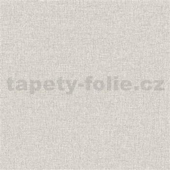Vliesové tapety na stenu IMPOL Collection textilná štruktúra svetlo sivá