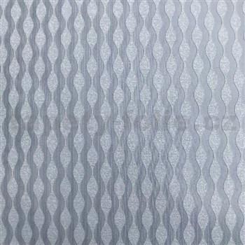 Vliesové tapety na stenu vlnovky strieborné s metalickým efektom - POSLEDNÉ KUSY
