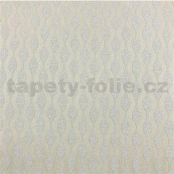 Vliesové tapety na stenu vlnovky svetle hnedé s metalickým efektom