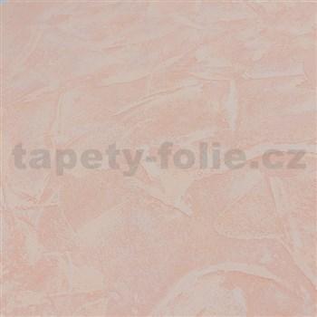 Vliesové tapety na stenu stierkovaná omietka svetlo oranžová