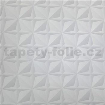 Papierové tapety na stenu 3D ihlany sivé