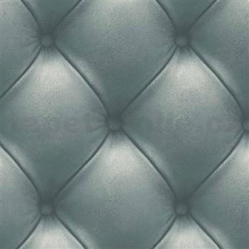 Vliesové tapety na stenu Exposed Warehouse imitácia koženky s gombíkmi zelená