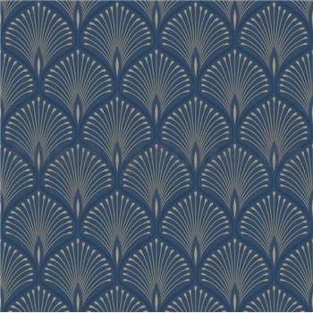 Vliesové tapety na stenu pávie perie strieborno-tmavo modré