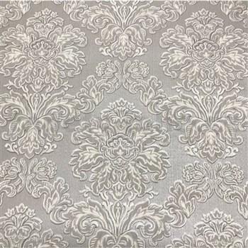 Vliesové tapety na stenu Collection 2 zámocký vzor sivý s lesklým vzorom